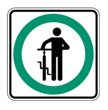 Sign_ walk your bikes
